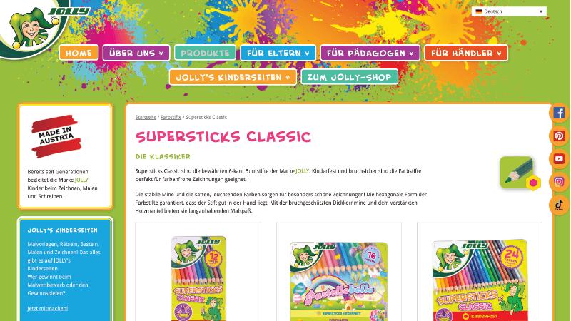 Website Produkte
